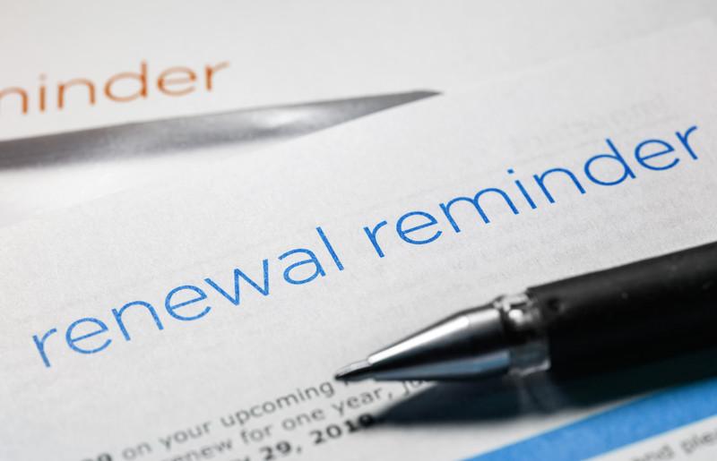 Renewal Reminder announcement